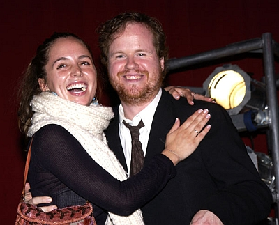 Eliza Dushku and Joss Whedon