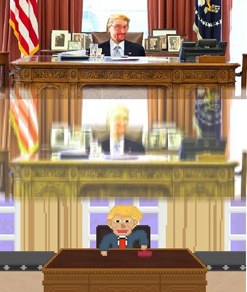 , Trump Stamp – Das Browser-Spiel für Missverstandene