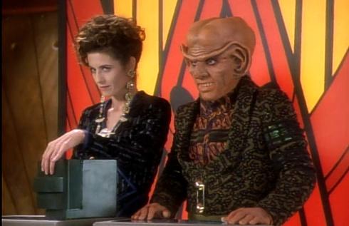 """, Star Trek DS9 – 1.06 – """"Q – Unerwünscht"""" Review"""